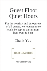 Guest Floor Quiet Hours 20
