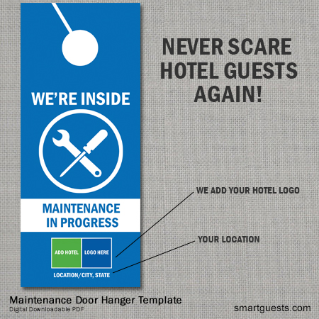 Maintenance Door Hanger Template
