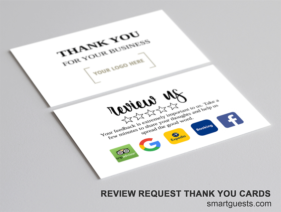 Review Request Thank You Business Card