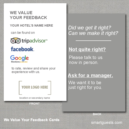 We Value Your Feedback Cards