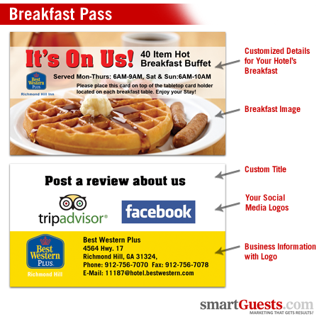 Breakfast Pass Cards