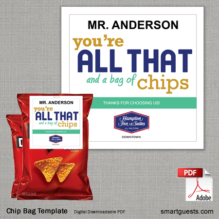 Chip Bag Template - Printable (PDF)