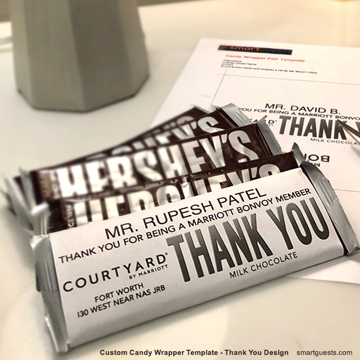 Candy Bar Wrapper Template - Printable (PDF)