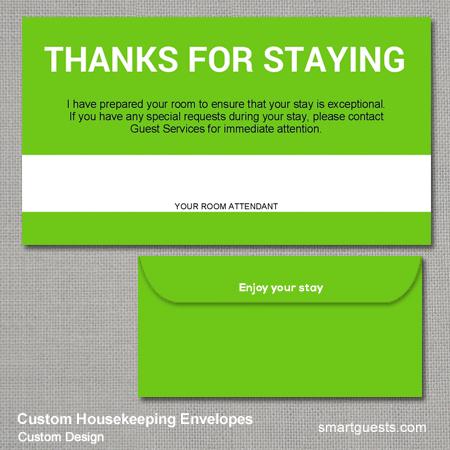 Custom Housekeeping Envelopes
