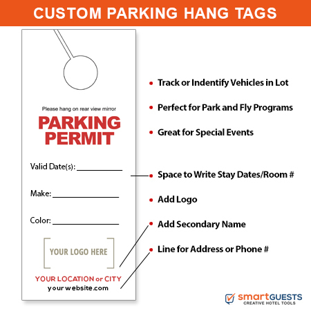 Parking Permit Mirror Hang Tags