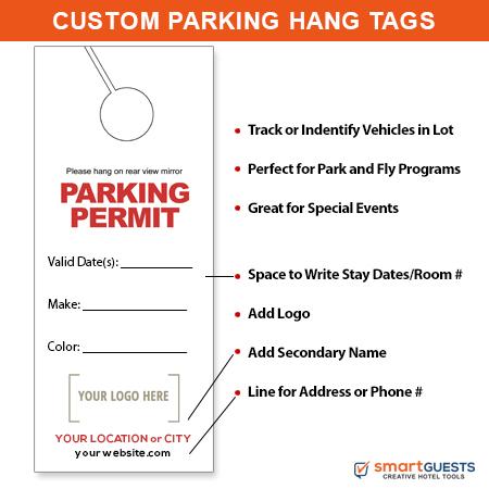 Parking Permit Mirror Hang Tags