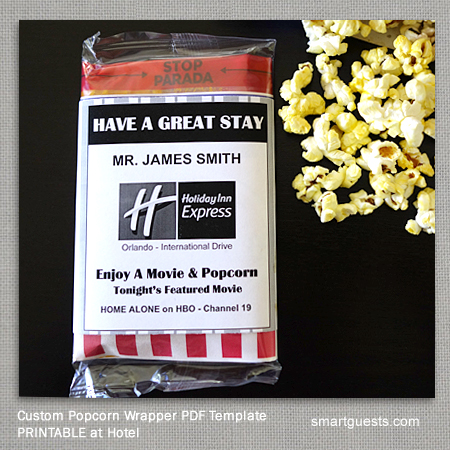 Custom Popcorn Wrapper PDF Template