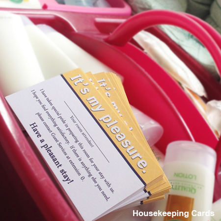 Housekeeping Cards 2″ x 3.5″