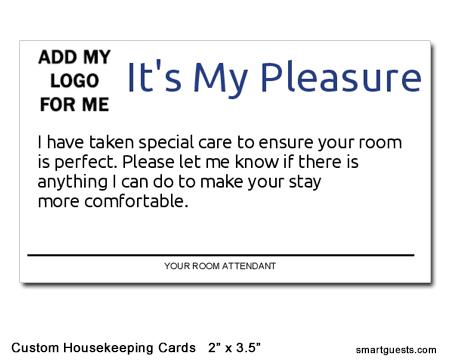 Custom Housekeeping Cards