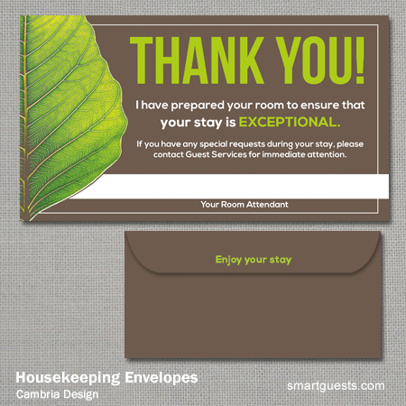 Housekeeping Envelopes