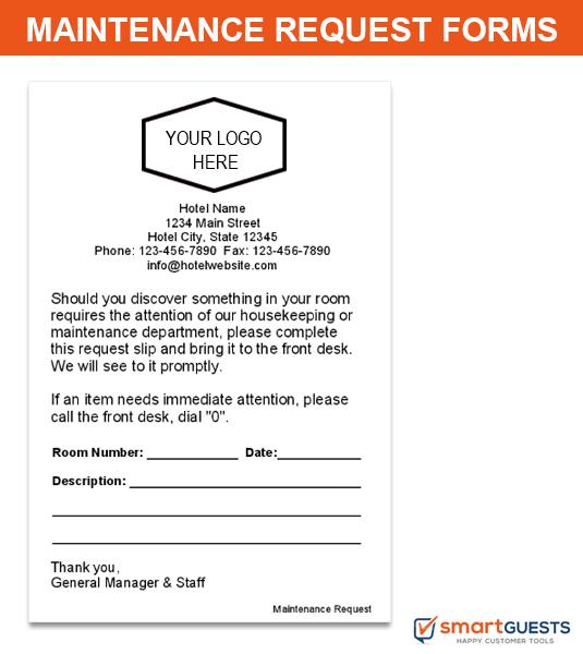 Maintenance Request Forms
