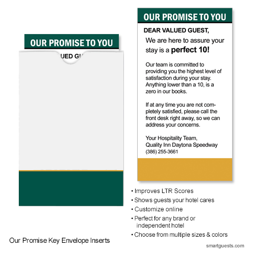 Our Promise Key Envelope Inserts