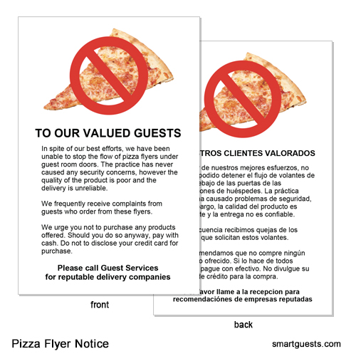 Pizza Flyer Notices