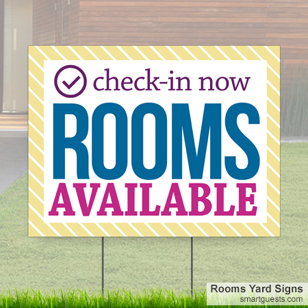 Rooms Yard Signs