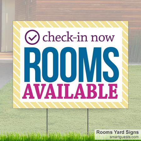 Rooms Yard Signs