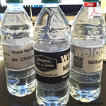Printable Custom Water Bottle Wrapper Template