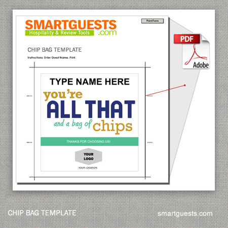 It is a photo of Handy Free Printable Chip Bag Template