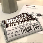 Custom Candy Wrapper Template - Thank you design