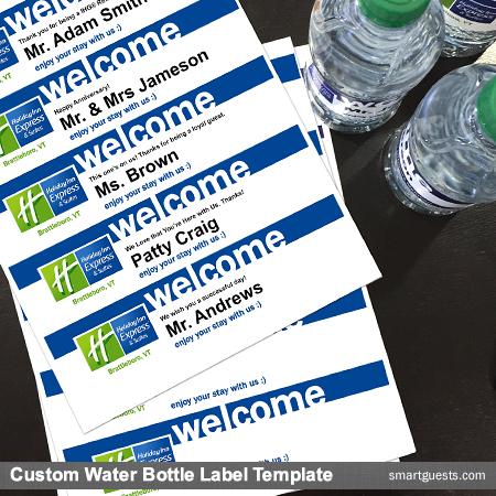 Color Water Bottle Labels