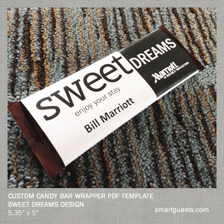 printable custom candy bar wrapper pdf template print at hotel. Black Bedroom Furniture Sets. Home Design Ideas